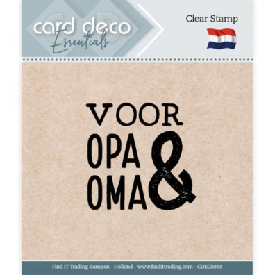 Card Deco Essentials - Clear Stamp - voor Opa & Oma