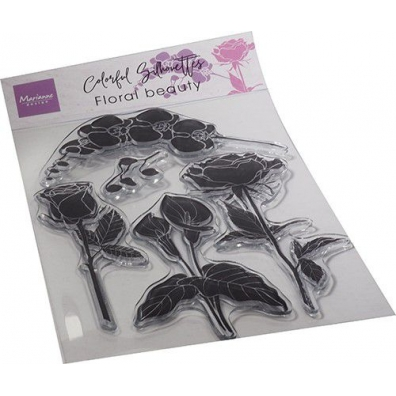 Marianne Design Clearstamps Colorful Silhouette - Floral Beauty