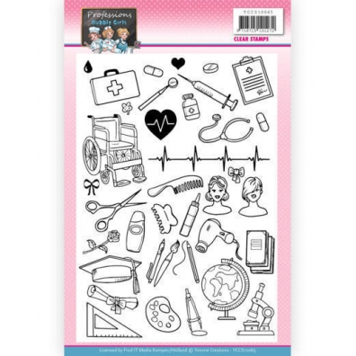 Clear Stamps - Yvonne Creations - Professions Bubbly Girls