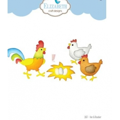 Elizabeth Craft Designs - Hen & Rooster