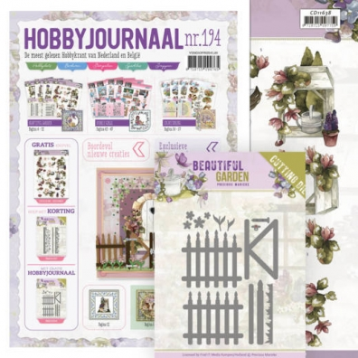 Precious Marieke - Beautiful Garden - Fences - Cutting Die + hobbyjournaal gratis