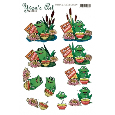 Yvon's Art Factory - Get well Frog