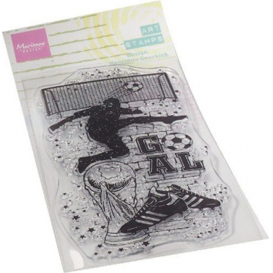 Marianne Desgin Clear Stamps Art Stamps - Voetbal