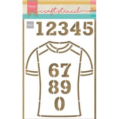 Marianne Design Craft Stencil - ~Team Shirt