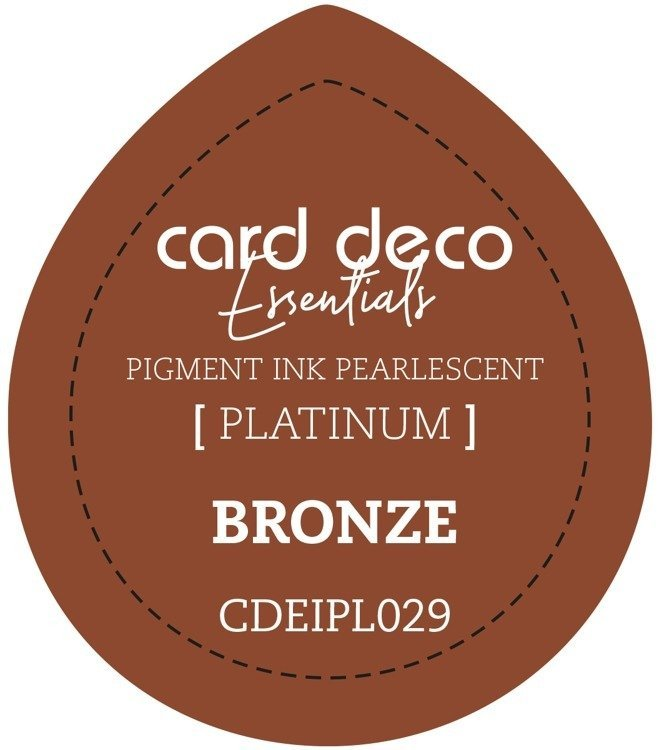 Card Deco Essentials Fast - Drying Pigment Ink Pearlescent - Bronze