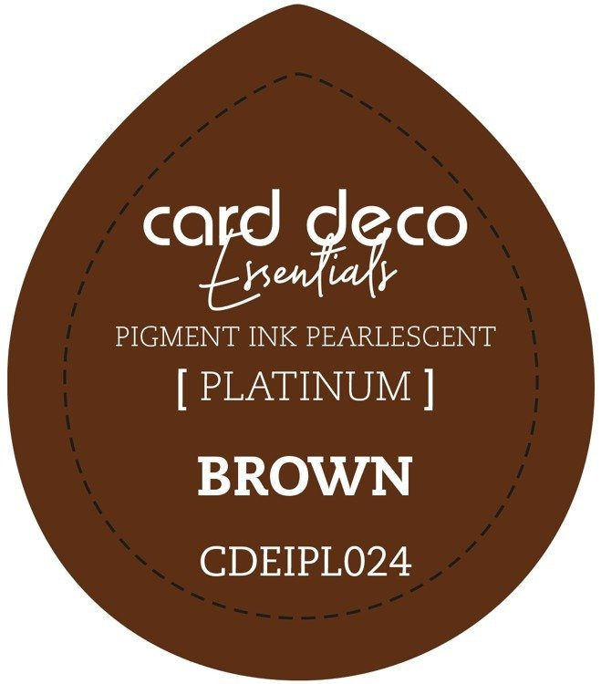Card Deco Essentials Fast - Drying Pigment Ink Pearlescent - Brown