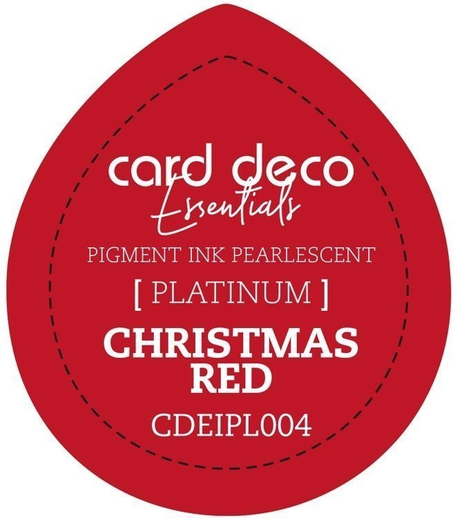 Card Deco Essentials Fast - Drying Pigment Ink Pearlescent - Christmas Red