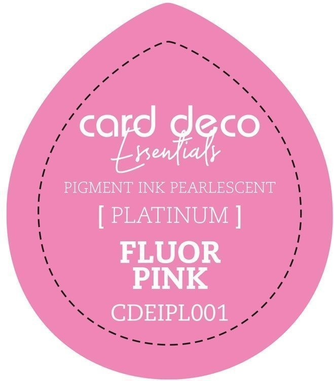 Card Deco Essentials Fast - Drying Pigment Ink Pearlescent - Fluor Pink