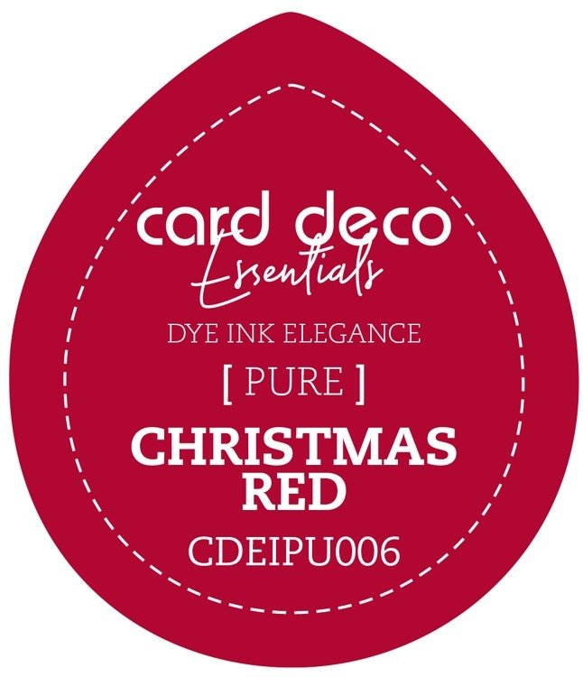 Card Deco Essentials Fade - Resistant Dye Ink  - Christmas Red