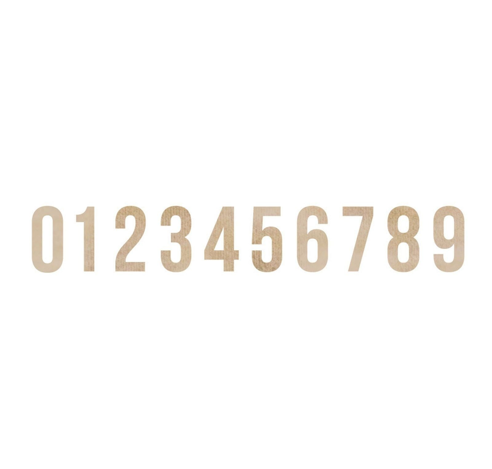 Kaiserkraft wood flourish numbers