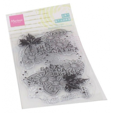 Marianne Design Clearstamps Art stamps Chrysant
