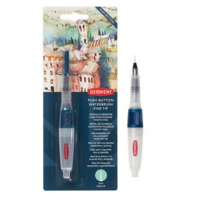 Derwent Push Button Waterbrush Fine