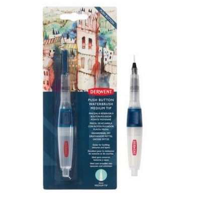 Derwent Push Button Waterbrush Medium