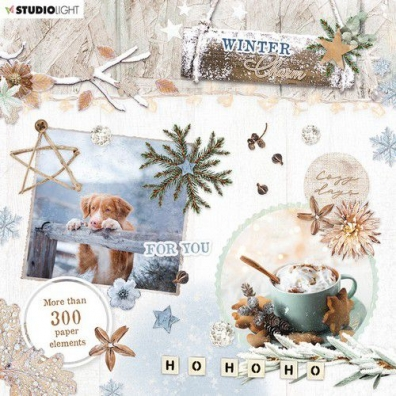 Studio Light Die Cut Book Winter Charm nr 665