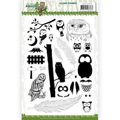 Clear Stamps - Amy Design. -  Amazing Owls