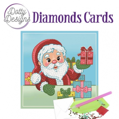 Diamonds Cards - Kerstman