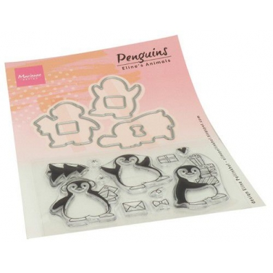 Marianne Design Clear Stamps Eline's Animals - Pinquins