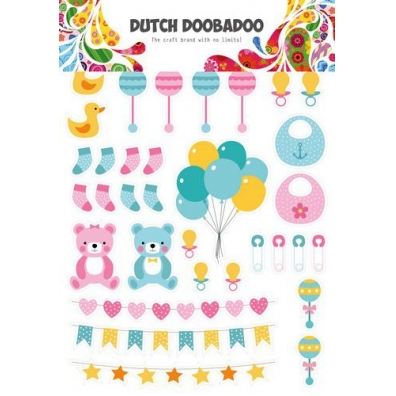 Dutch Doobadoo Dutch Paper Art A4 Baby Elements
