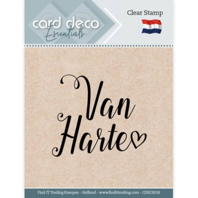 Card Deco Essentials - Clearstamp - van Harte