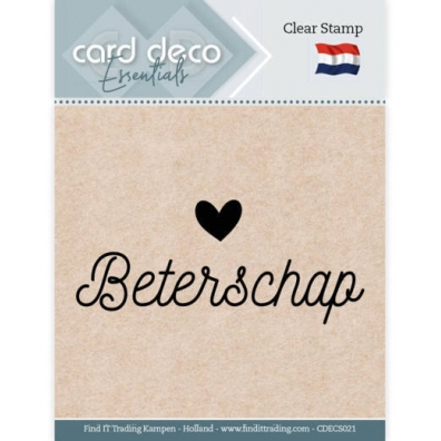 Card Deco Essentials - Clearstamp - Beterschap