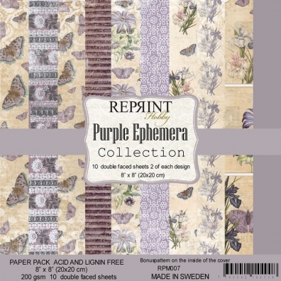 Reprint Purple Ephemera Collection 20,3x20,3cm