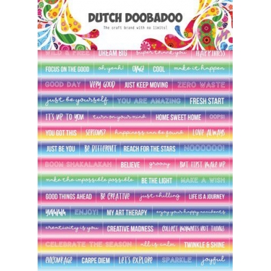 Dutch Doobadoo Dutch Sticker Art A5 tekst mandela