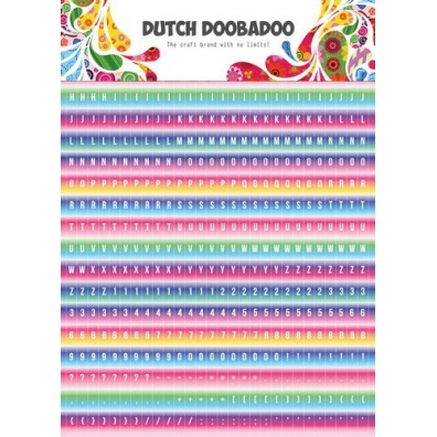 Dutch Doobadoo Dutch Sticker Art A5 alfabet