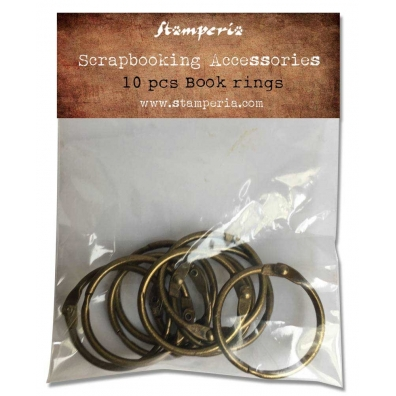 Stamperia - Book rings - 10 stuks