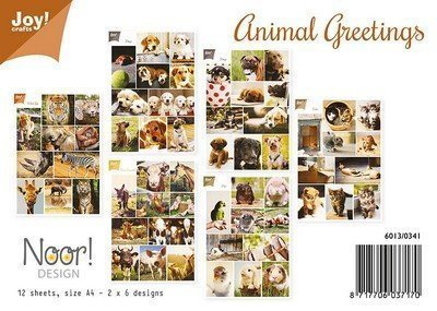 Animal Greetings A4 set