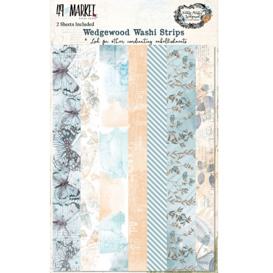 49 and Market - Vintage Artistry Wedgewood Collection - Washi Strips