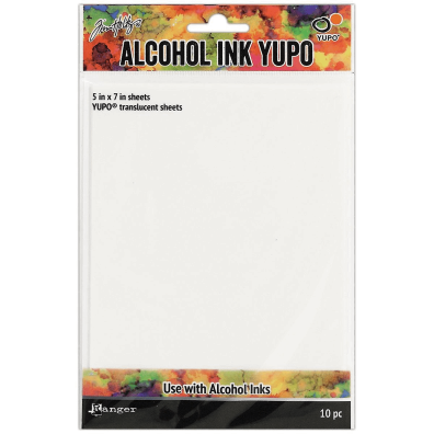 Tim Holtz - Alcohol Ink Yupo -  translucent sheets